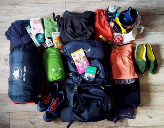Equipment für Backpacking auf Madeira.