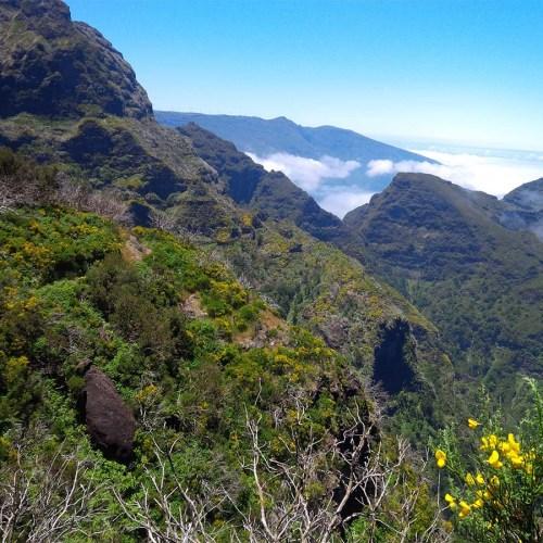 Ausblick auf die Berge Madeiras