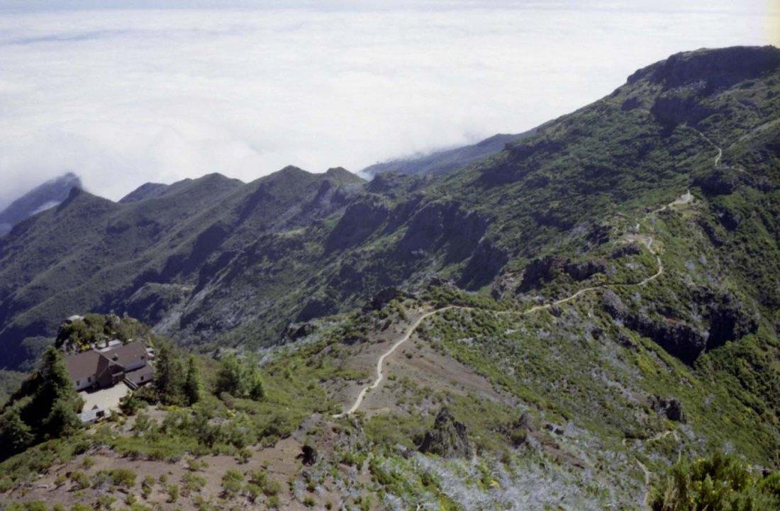 Auf dem Weg zum Pico Ruivo auf Madeira.