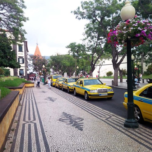 Taxistand in Funchal.