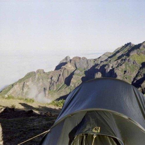 Zelten unterhalb des Pico Ruivo.